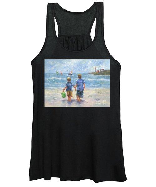 Two Beach Boys Walking Women's Tank Top