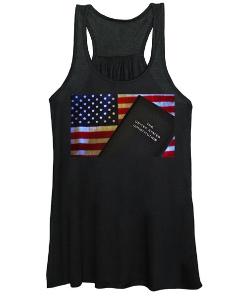 United States Constitution And Flag Women's Tank Top
