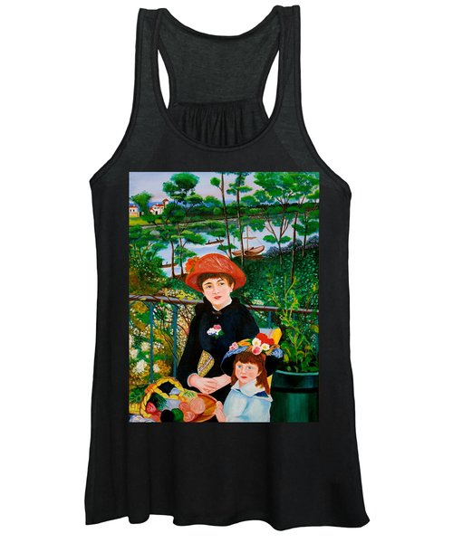 Version Of Renoir's Two Sisters On The Terrace Women's Tank Top