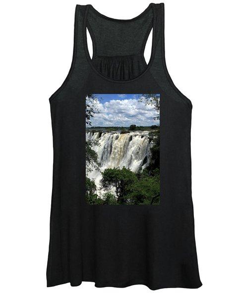 Victoria Falls On The Zambezi River Women's Tank Top