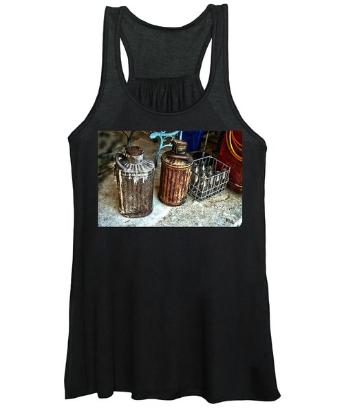Hdr Vintage Art  Cans And Bottles Women's Tank Top