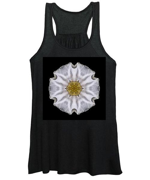 White Beach Rose I Flower Mandala Women's Tank Top