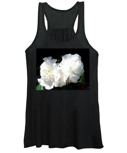 White Begonia  Women's Tank Top