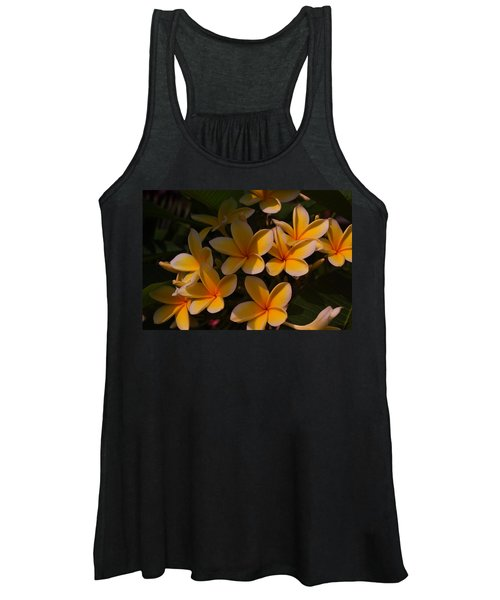 White Plumeria Women's Tank Top