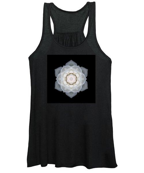 White Rose I Flower Mandala Women's Tank Top