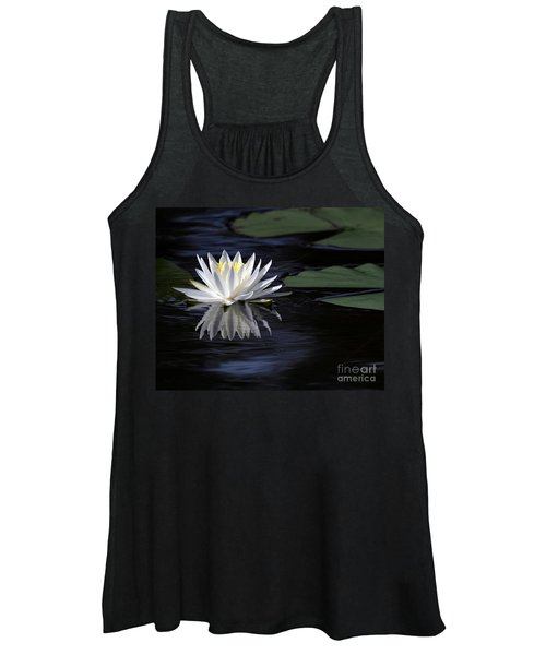 White Water Lily Left Women's Tank Top