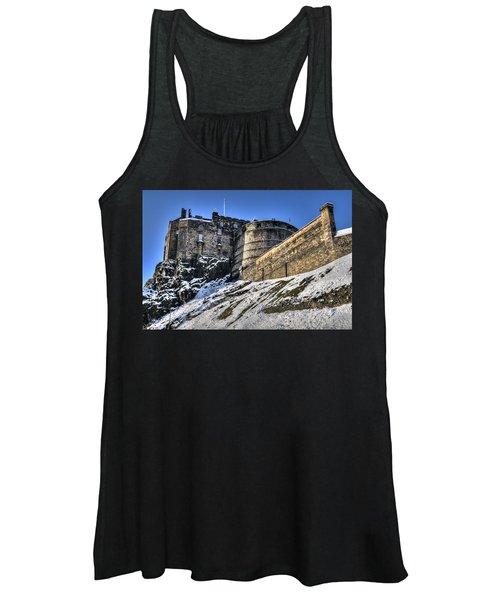 Winter At Edinburgh Castle Women's Tank Top