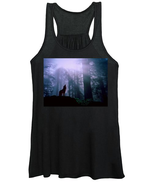 Wolf In The Woods Women's Tank Top
