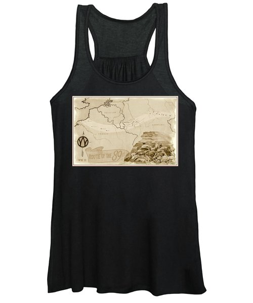 World War I I Map Route Of The 89th Women's Tank Top