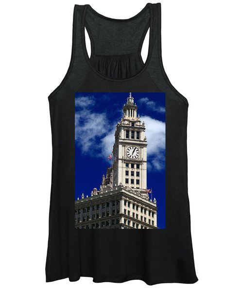 Wrigley Building Clock Tower Women's Tank Top