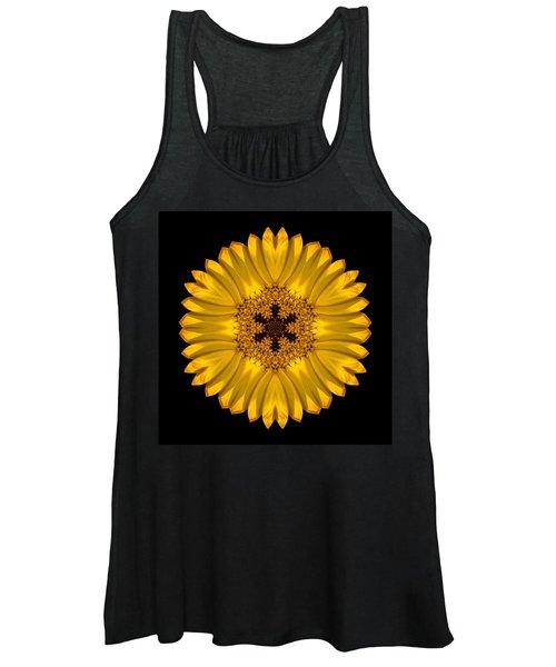 Yellow African Daisy Flower Mandala Women's Tank Top