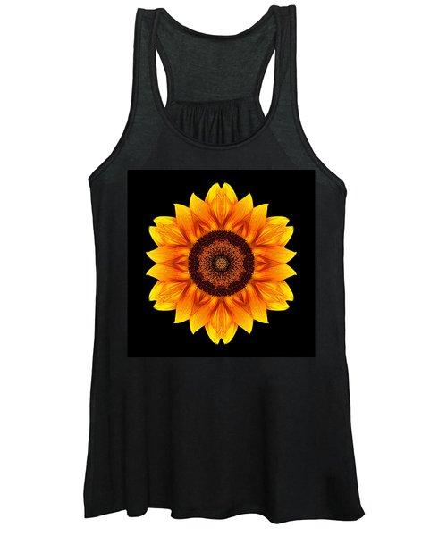 Yellow And Orange Sunflower Vi Flower Mandala Women's Tank Top