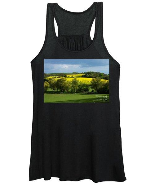 Yellow Fields In The Sun Women's Tank Top