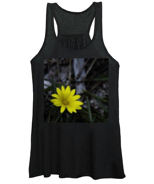 Yellow Flower Soft Focus Women's Tank Top
