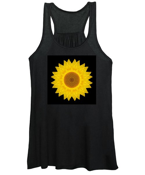 Yellow Sunflower Ix Flower Mandala Women's Tank Top