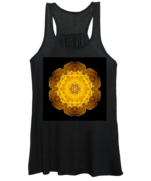 Yellow Tulip II Flower Mandala Women's Tank Top