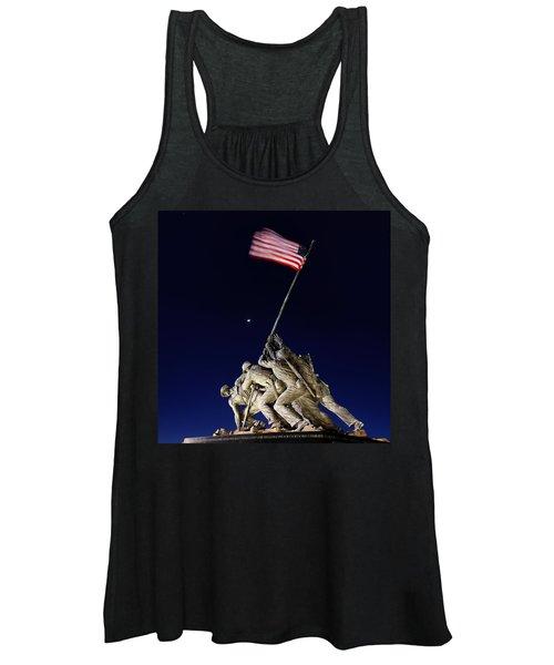 Iwo Jima Memorial At Dusk Women's Tank Top