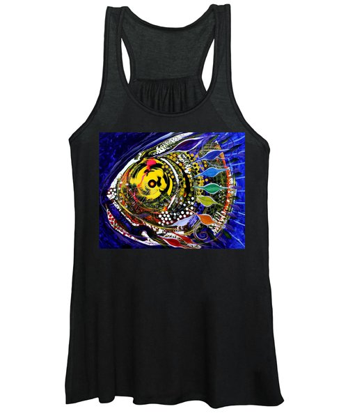 Abstract Busy Bee Fish Women's Tank Top
