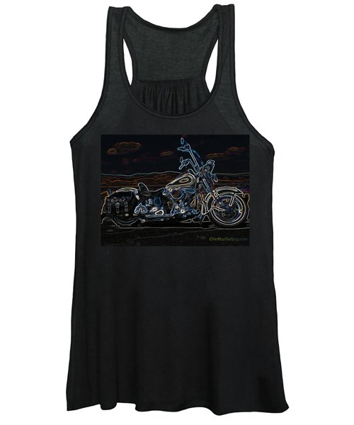 Black And Blue Women's Tank Top