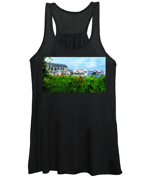 Boston Scene- Boston City Art Women's Tank Top