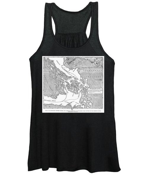 Canada: Map, 1872 Women's Tank Top