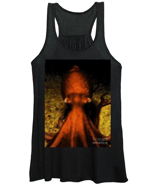 Creatures Of The Deep - The Octopus - V4 - Orange Women's Tank Top