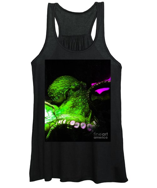 Creatures Of The Deep - The Octopus - V6 - Green Women's Tank Top