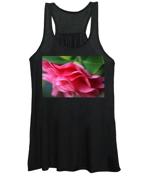 Dancing Petals Of The Camellia Women's Tank Top
