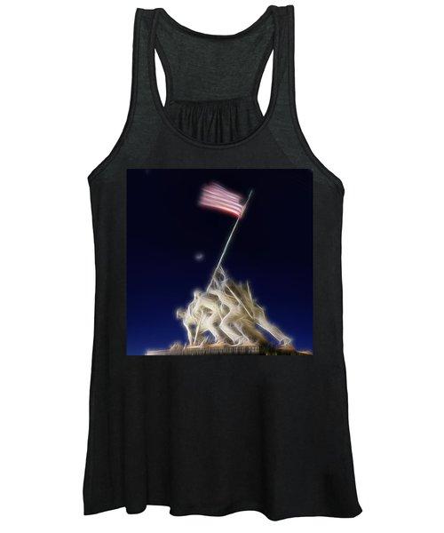Digital Lightening - Iwo Jima Memorial Women's Tank Top