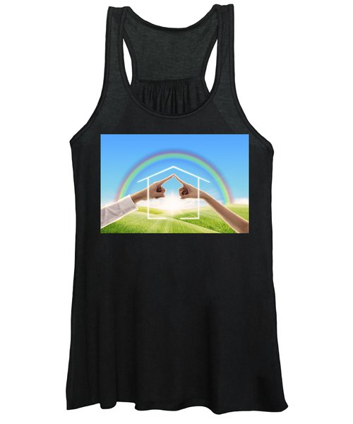 Fingers Touching Together Women's Tank Top