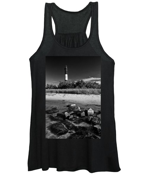 Fire Island In Black And White Women's Tank Top