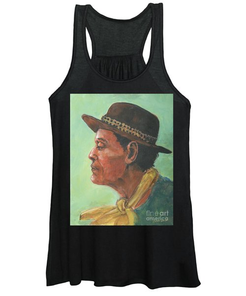 Hat And Yellow Scarf Women's Tank Top