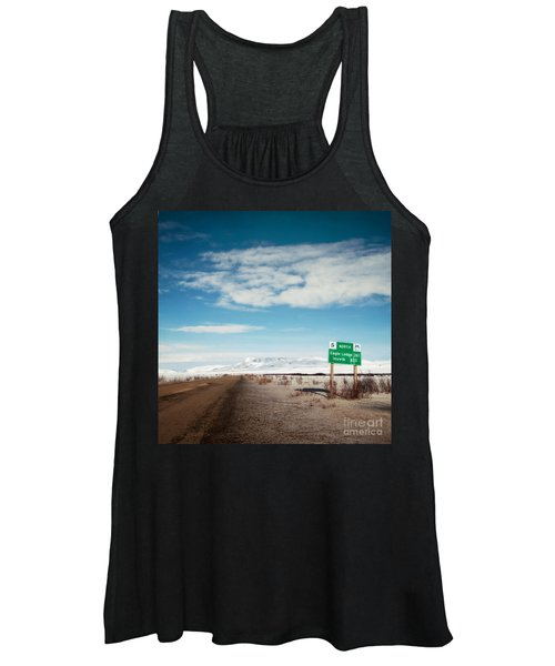 Milepost At The Dempster Highway Women's Tank Top