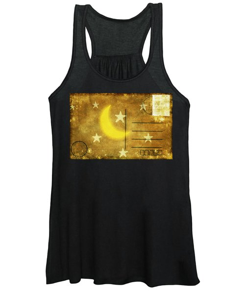 Moon And Star Postcard Women's Tank Top