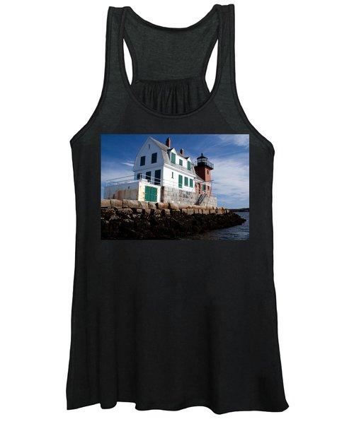 Rockland Breakwater Lighthouse Women's Tank Top