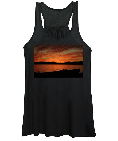 Sunset And Kayak Women's Tank Top