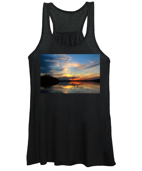 Sunset Over Calm Lake Women's Tank Top