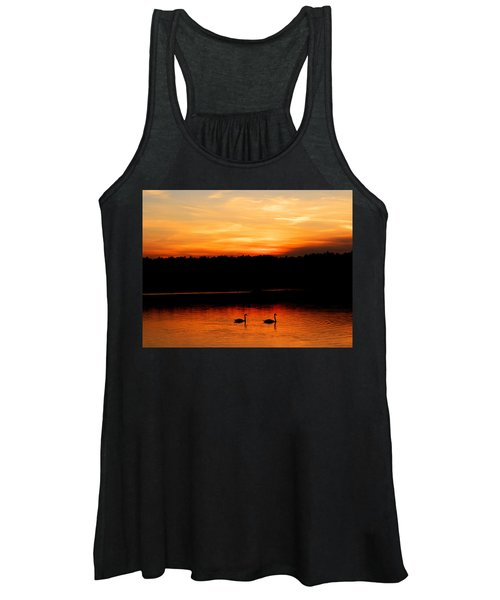 Swans In The Sunset Women's Tank Top
