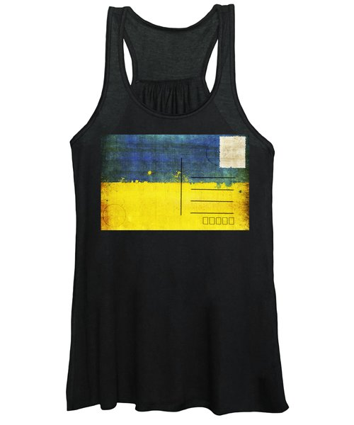 Ukraine Flag Postcard Women's Tank Top