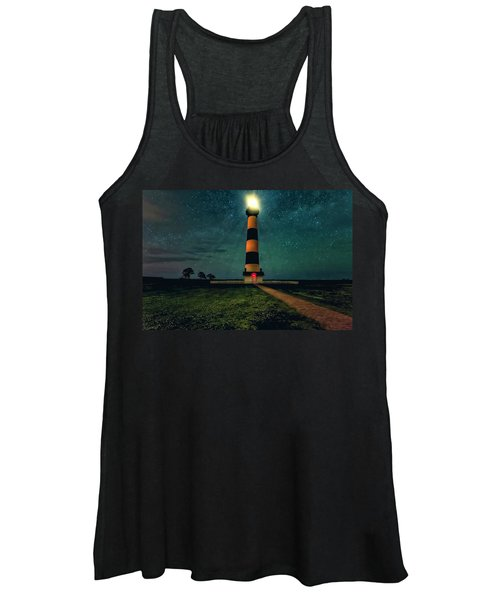 Women's Tank Top featuring the photograph Bodie Island Night by Pete Federico