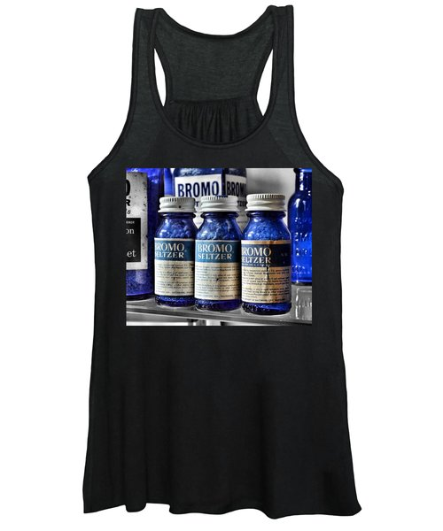 Bromo Seltzer Vintage Glass Bottles Collection Women's Tank Top