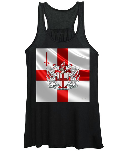 City Of London - Coat Of Arms Over Flag  Women's Tank Top