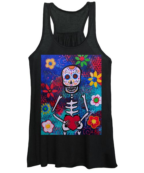 Corazon Day Of The Dead Women's Tank Top