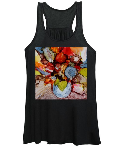Floral With Blue Vase Women's Tank Top