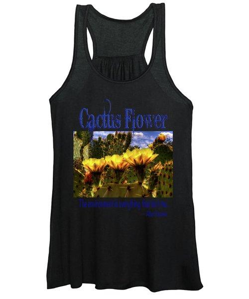 Prickly Pear Cactus Flowers Women's Tank Top