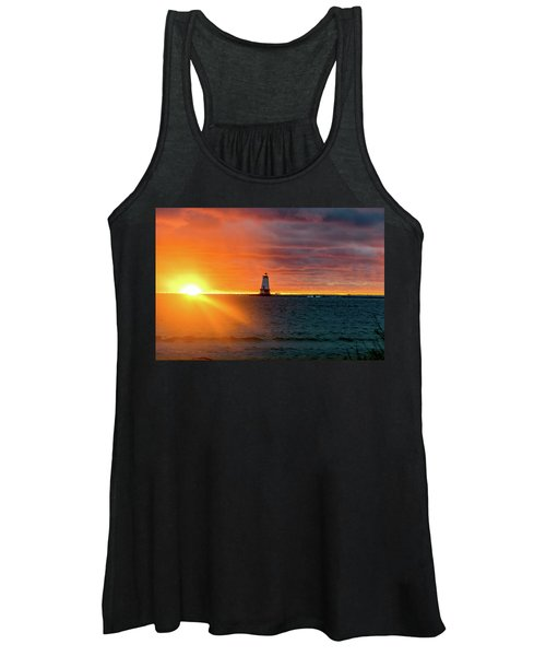 Sunset And Lighthouse Women's Tank Top