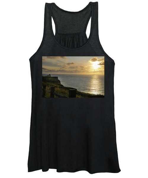 Women's Tank Top featuring the photograph Sunset At Rhossili Bay by Perry Rodriguez
