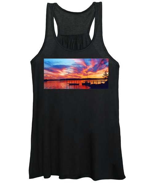 Sunset Over Lake Murray Women's Tank Top