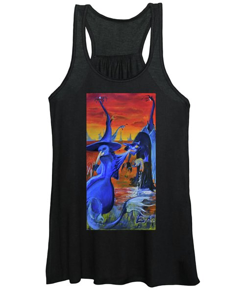 The Cat And The Witch Women's Tank Top
