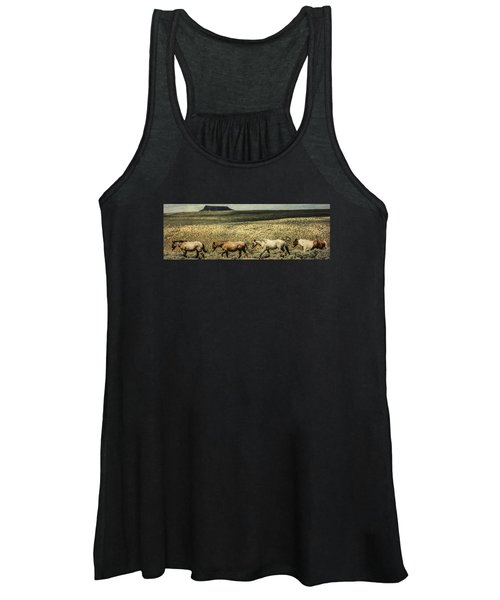 Walking The Line At Pilot Butte Women's Tank Top